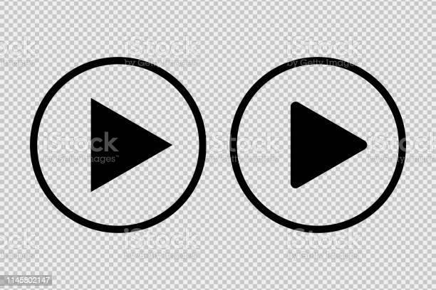 Bouton De Lecture Icône Médias Sociaux Signe Isolé Sur Fond Transparent Pour Le Websiter Ou Lapplication Vecteurs libres de droits et plus d'images vectorielles de Affaires