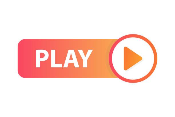 ilustrações de stock, clip art, desenhos animados e ícones de play button icon - watch