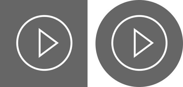Play-Button-Symbol – Vektorgrafik