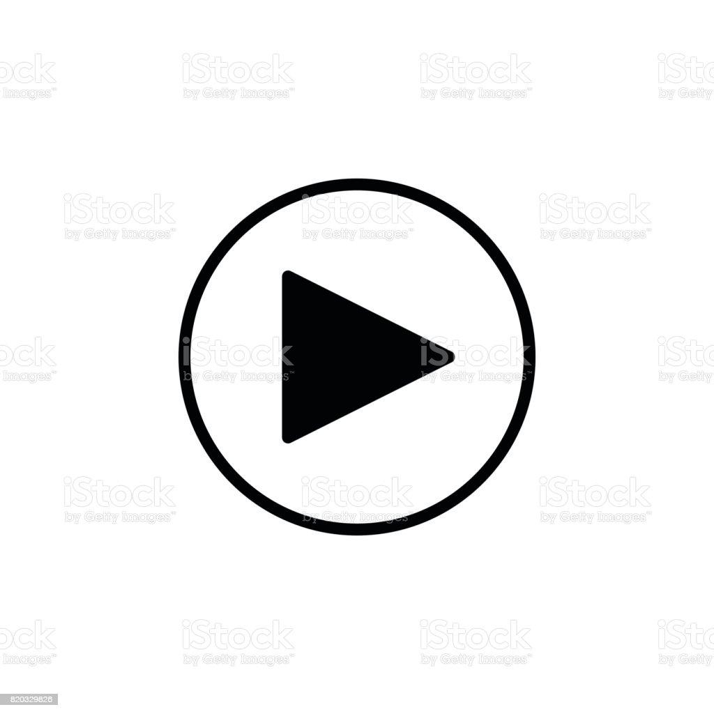 play button icon - Illustration vectorielle