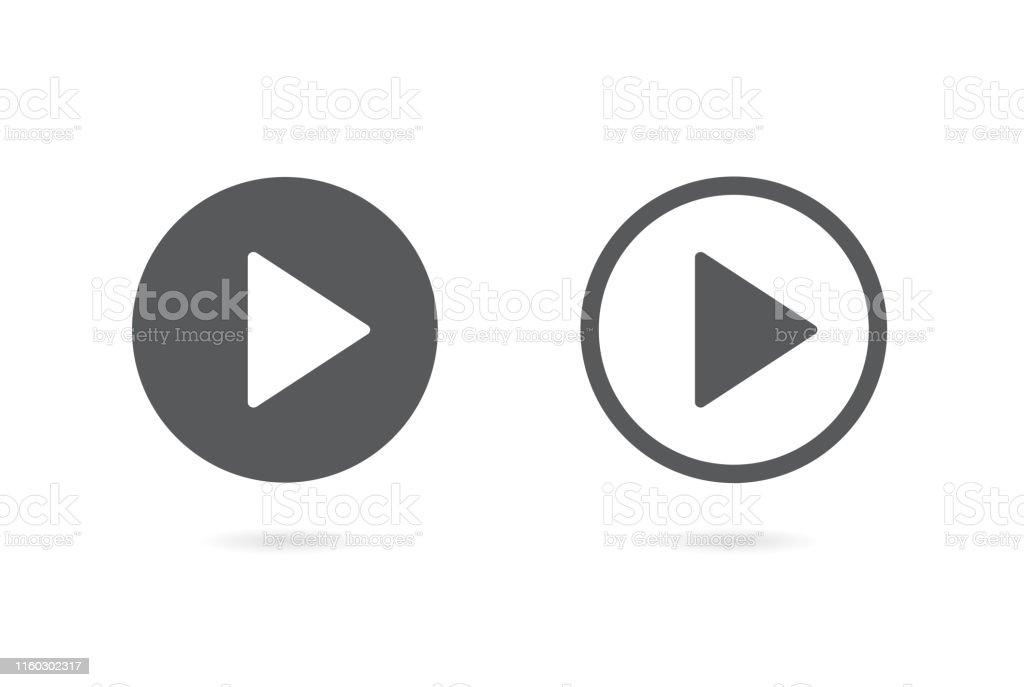 Play button icon. Vector illustration. on white background - arte vettoriale royalty-free di Applicazione mobile