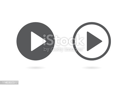 Play button icon. Vector illustration. on white background