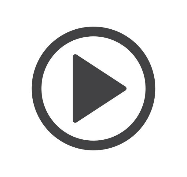ilustrações, clipart, desenhos animados e ícones de reproduzir ícone de botão. ilustração vetorial. em fundo branco - cinema