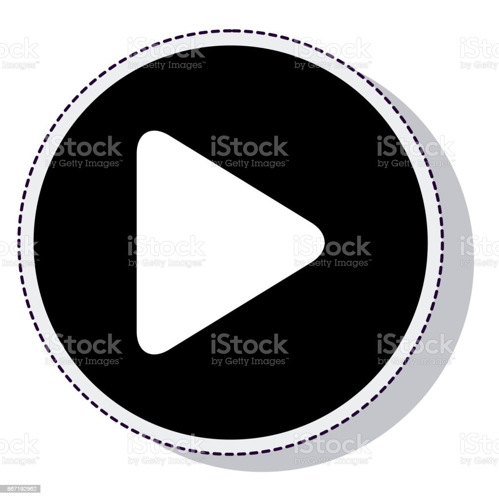 play button isolated icon vector art illustration