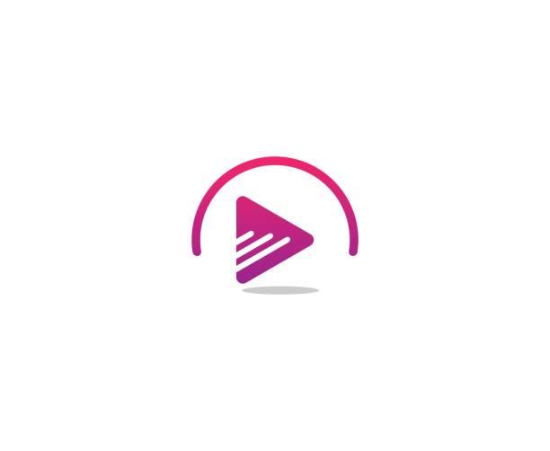 Play-Button-Logo – Vektorgrafik