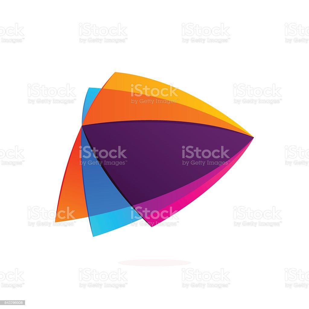 Play button triangle intersection icon stock vector art 542299306 next single word rainbow spectrum symbol arrow symbol buycottarizona Images