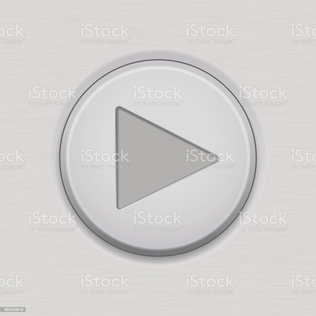 Bouton de lecture. Interface utilisateur Tour icône - Illustration vectorielle