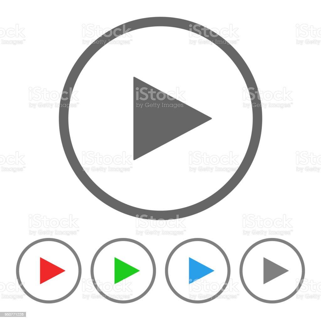 Bouton de lecture. Icône de vecteur - Illustration vectorielle