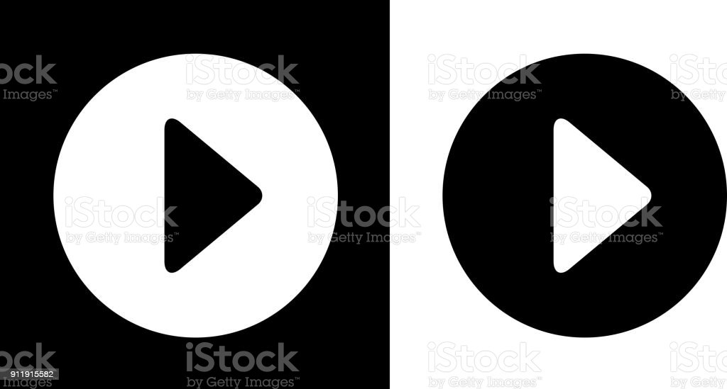 Play Button. royalty-free play button stock vector art & more images of black and white