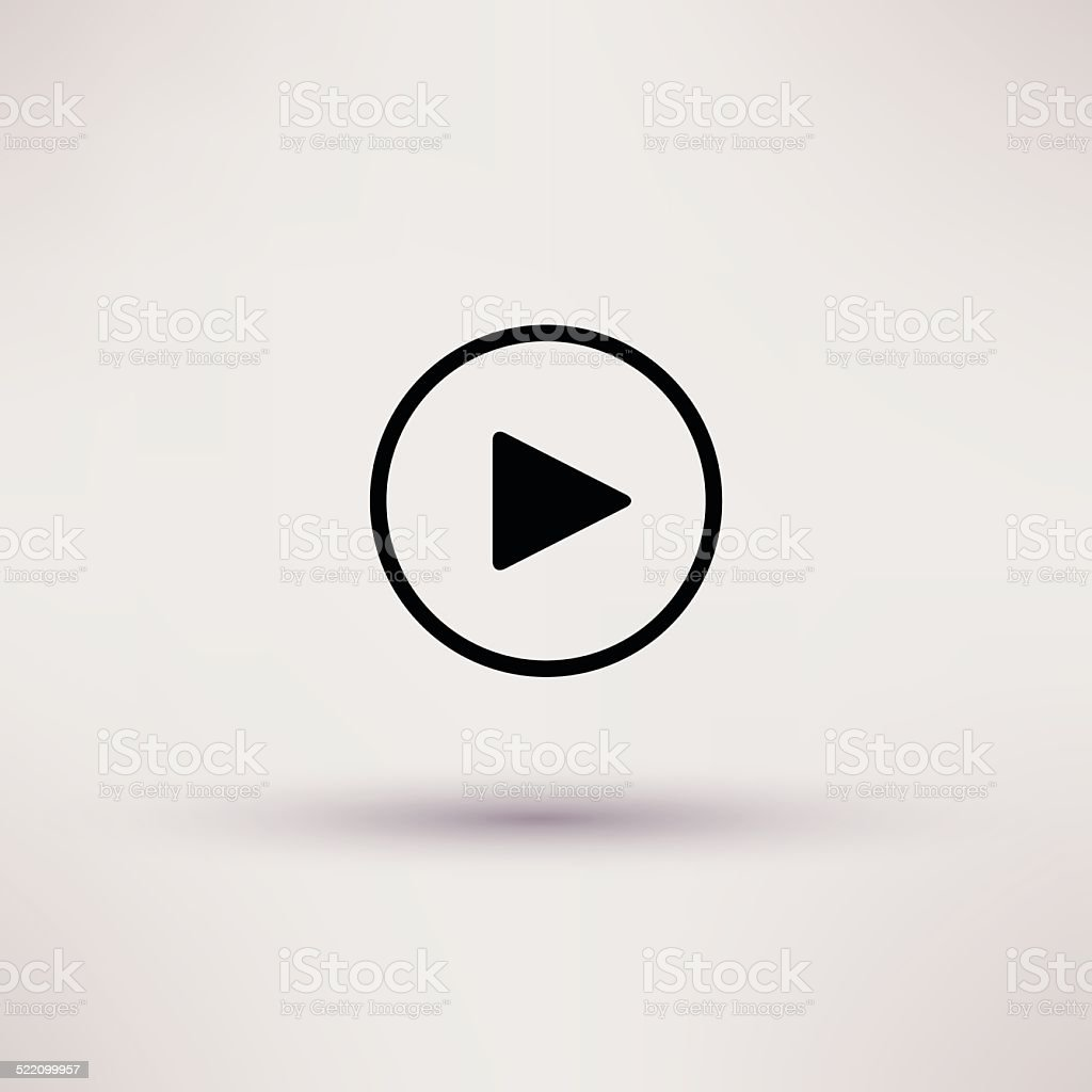 Play button web icon Isolated Vector illustration. vector art illustration