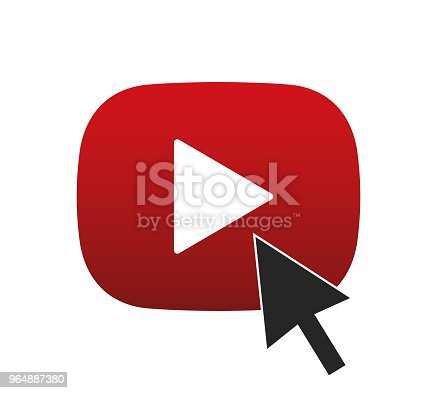 istock Play button with cursor 964887380