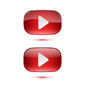 Play buttons for video channel for website.