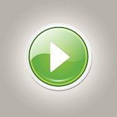 Play Circular Vector Green Web Icon Button
