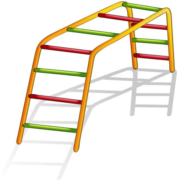 play equipment - monkey bars stock illustrations, clip art, cartoons, & icons