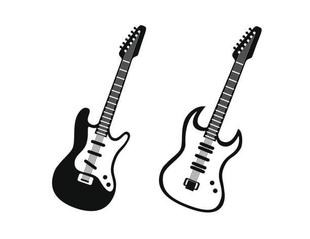 Spielen Sie Gitarre-Symbol. Einfache Illustration des Spiel Gitarre Vektor-Symbol für Web-Design isoliert auf weißem Hintergrund – Vektorgrafik