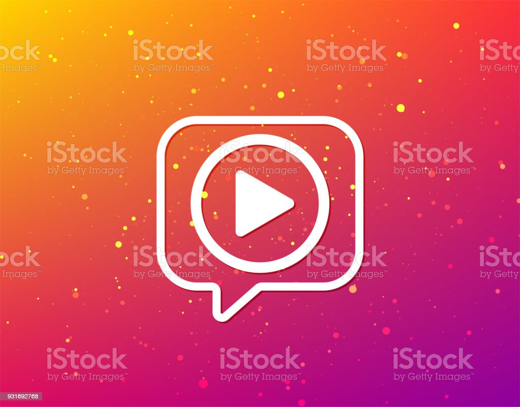 Play Icon Audio Or Video Player Sign Stock Vector Art More Images