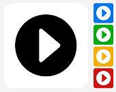 Play Icon Flat Graphic Design