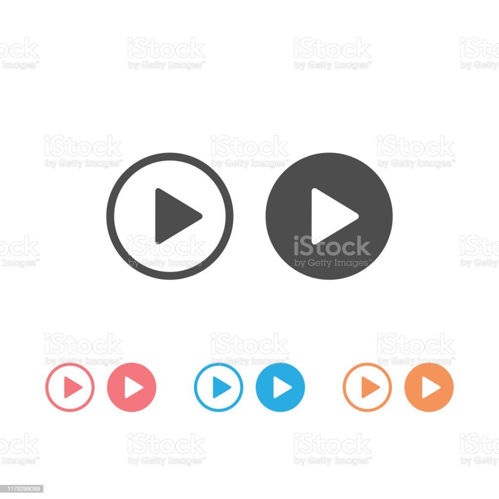 Video Kamera Recorder Set Icon Vektor Illustration Stock Vektor Art und  mehr Bilder von Alt - iStock