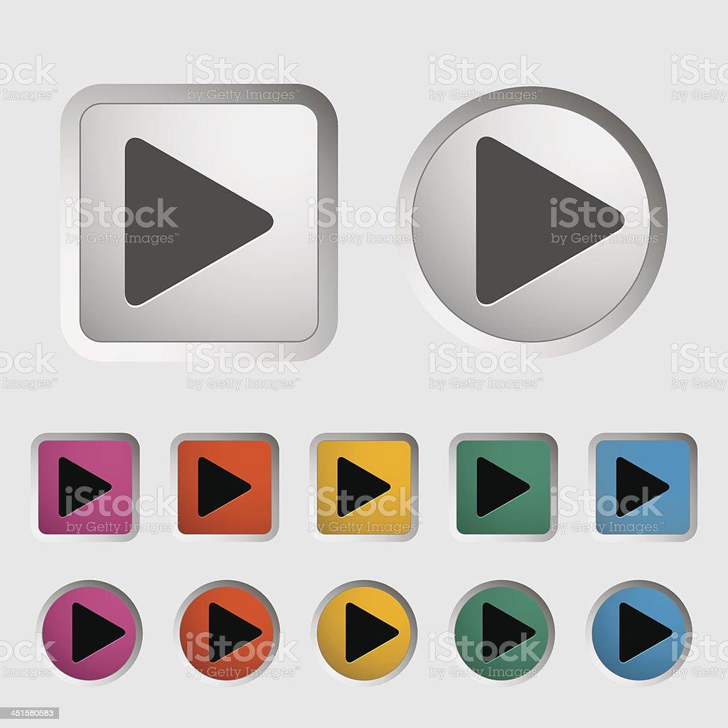Play icon royalty-free stock vector art