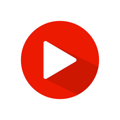 play icon youtube.you tube video icon.social media sign.mobile app.web video mark vector illustration