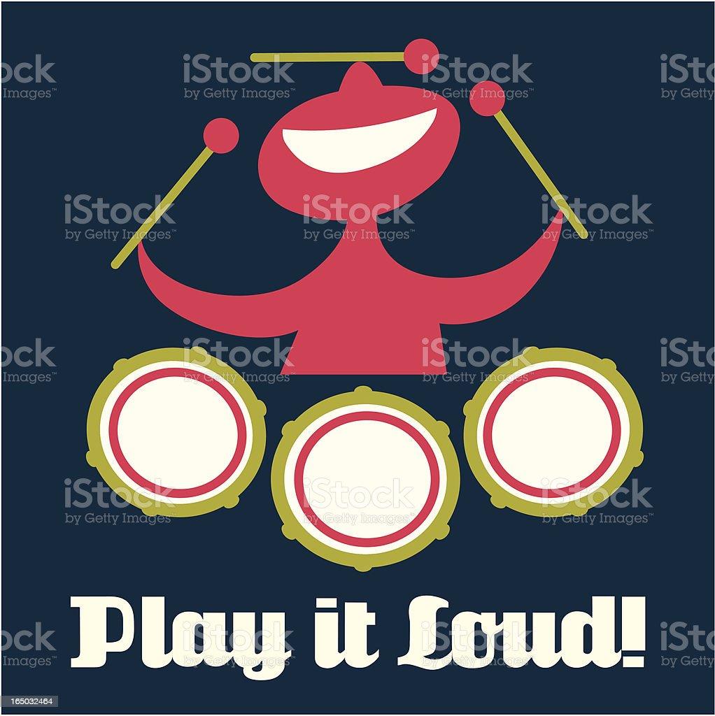 Play it Loud! royalty-free stock vector art