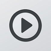 Play sign vector circle button web icon