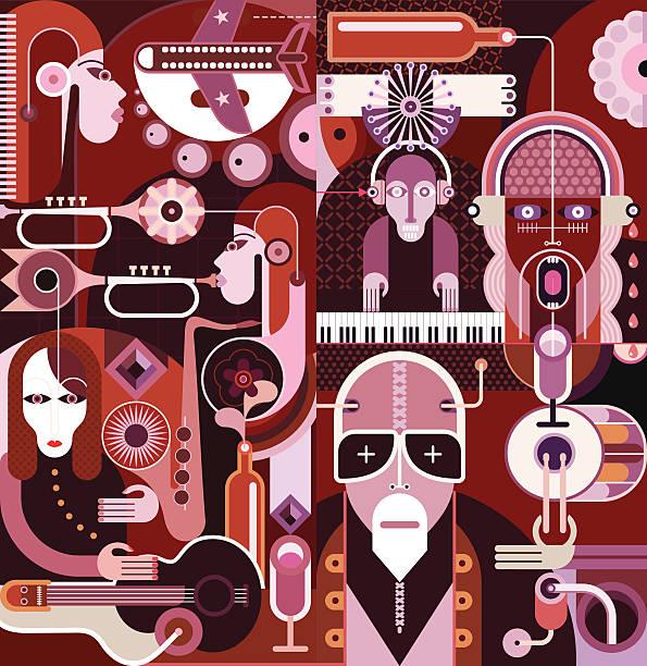 Jouer de la musique - Illustration vectorielle