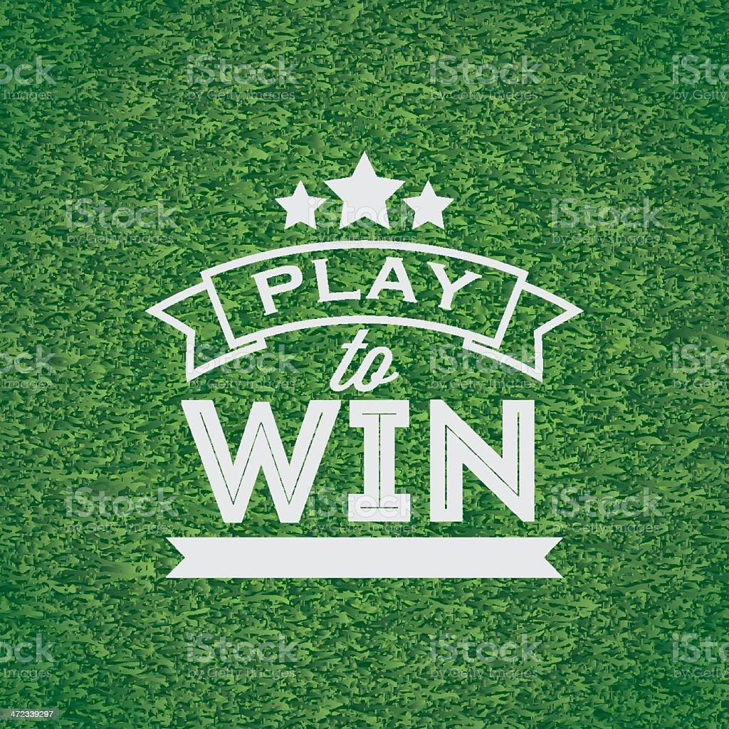 Play to win banner vector art illustration