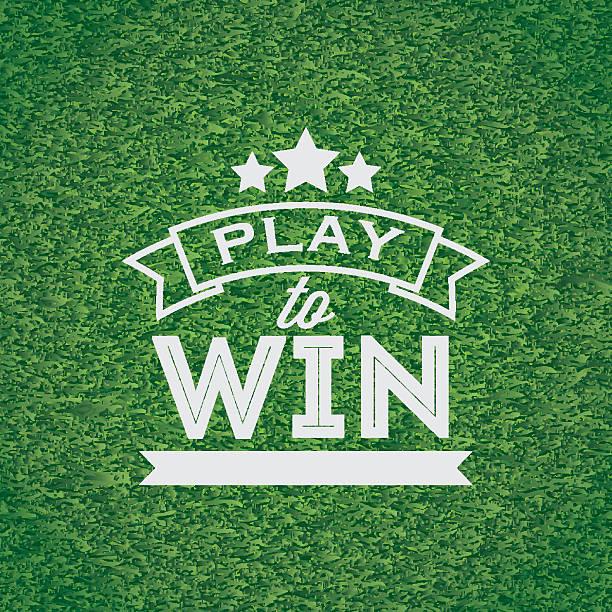 play to win banner - baseball stadium stock illustrations, clip art, cartoons, & icons