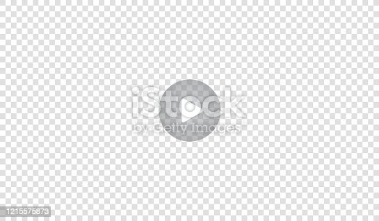 istock Play video sign or button vector. Transparent Play button isolated on transparent background. Vector. 1215575873