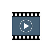 istock Playback button icon, video movie play vector isolated on white background 1168470426