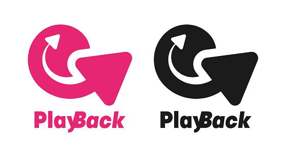 Playback design. Video surveillance site icon design.