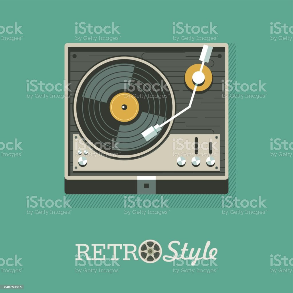 Player Für Vinylschallplatten Icon Icon Vektorillustration Stock ...