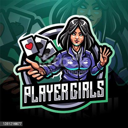 istock Player girls esport mascot 1251216677