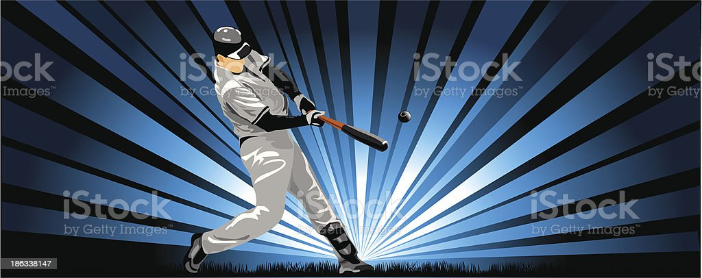 player in baseball royalty-free stock vector art