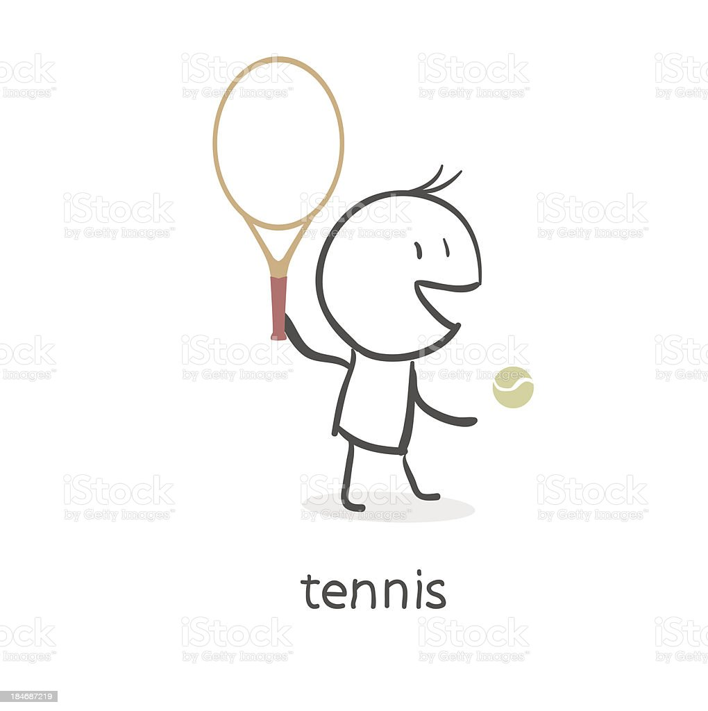 Player in tennis royalty-free player in tennis stock vector art & more images of adult