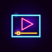 Player Neon Sign. Vector Illustration of Play Promotion.