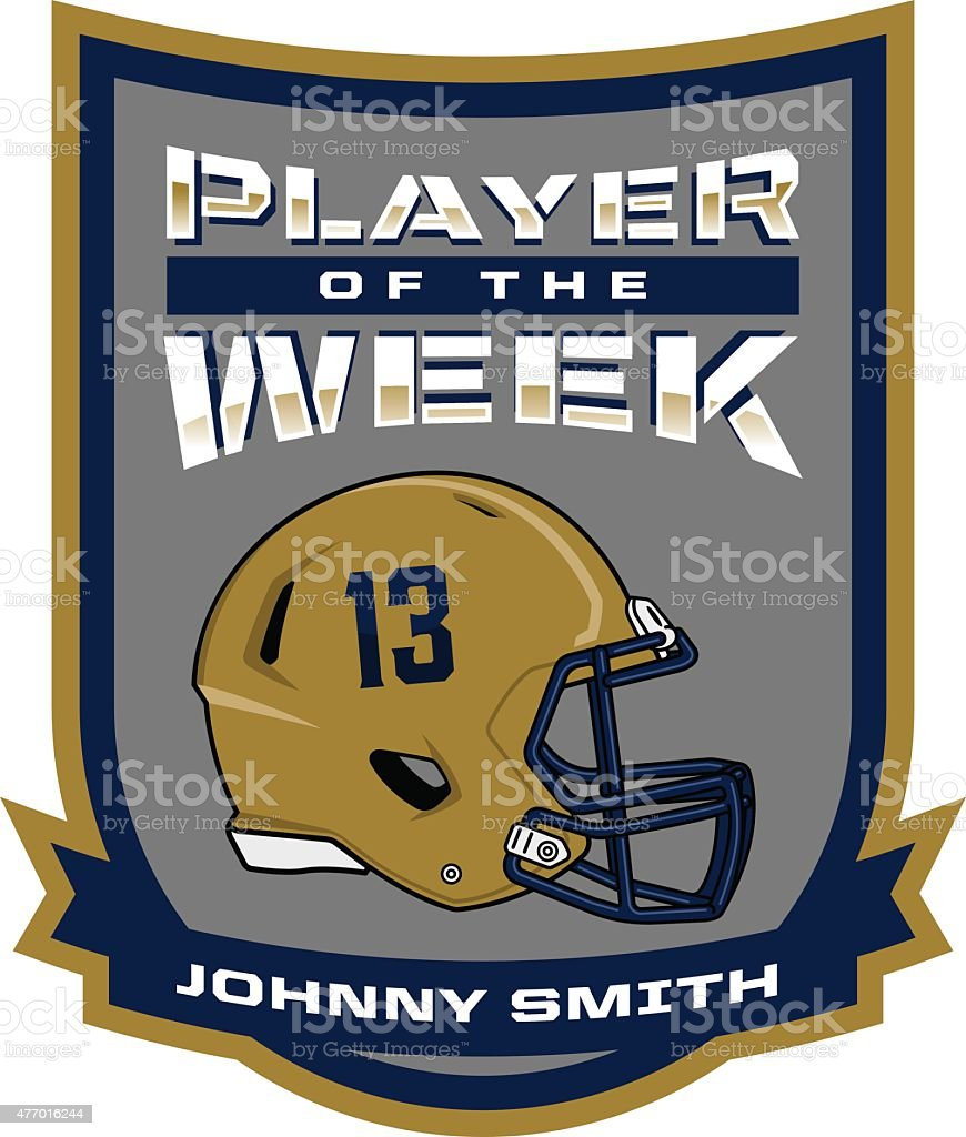 Player of the Week vector art illustration