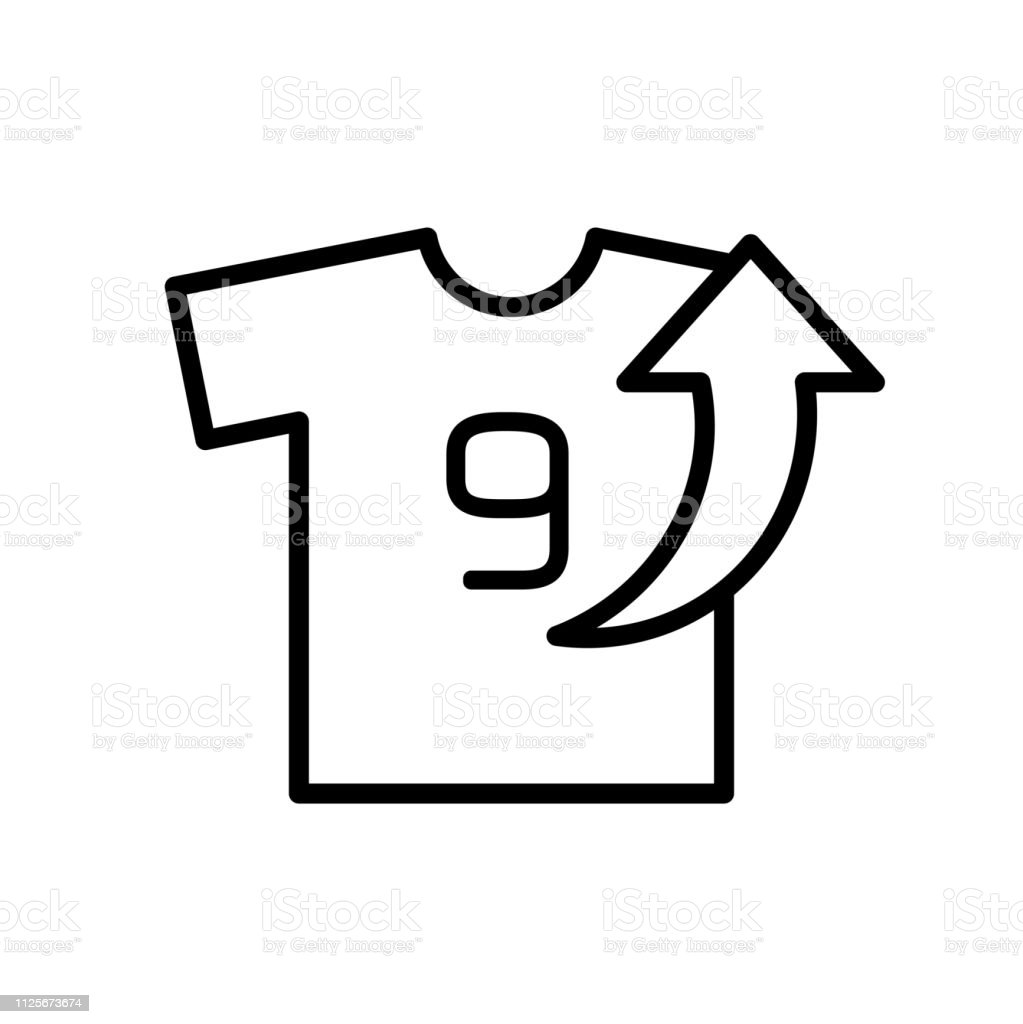 Player Out Field Icon T Shirt With Arrow Up Illustration