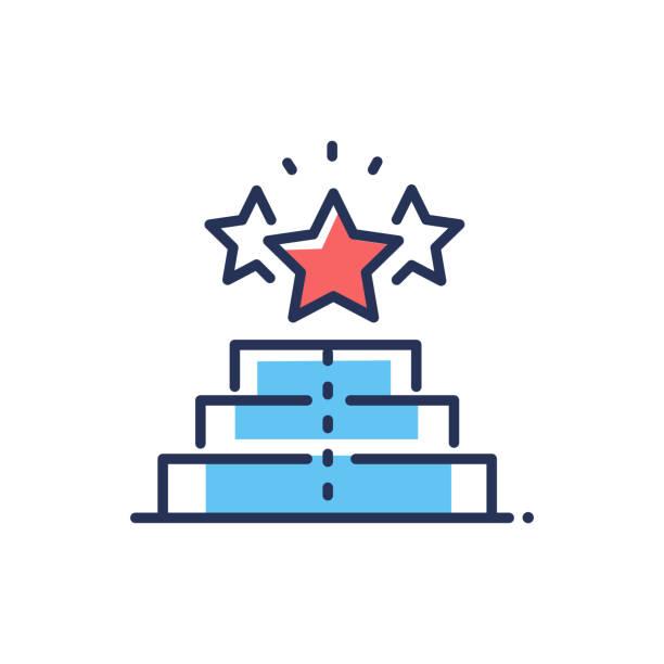 Player Ratings - modern vector line design icon. vector art illustration