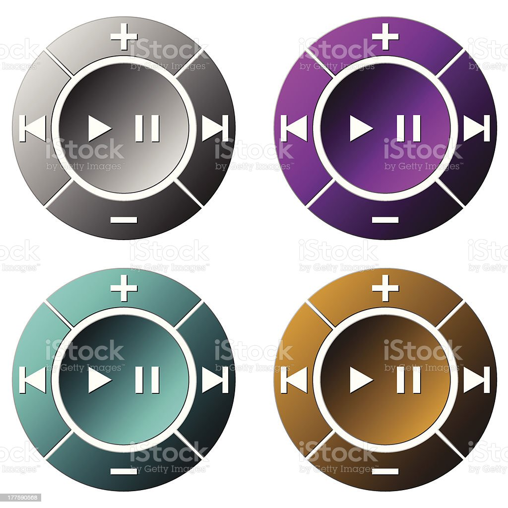 CD DVD  player royalty-free stock vector art