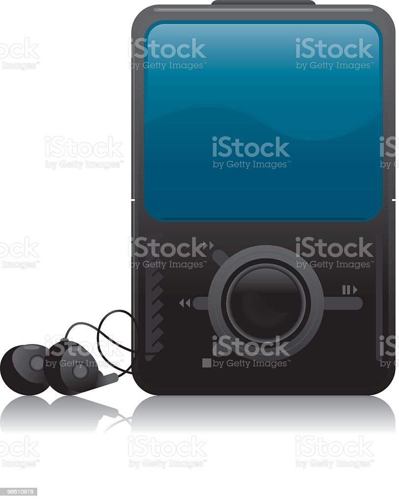 MP3 Player - Royalty-free Clip Art stock vector