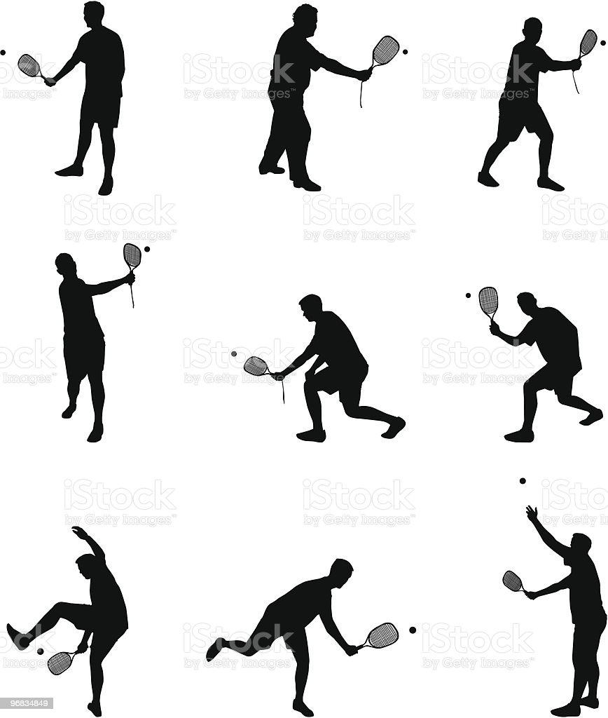 players silhouettes part 2 royalty-free stock vector art