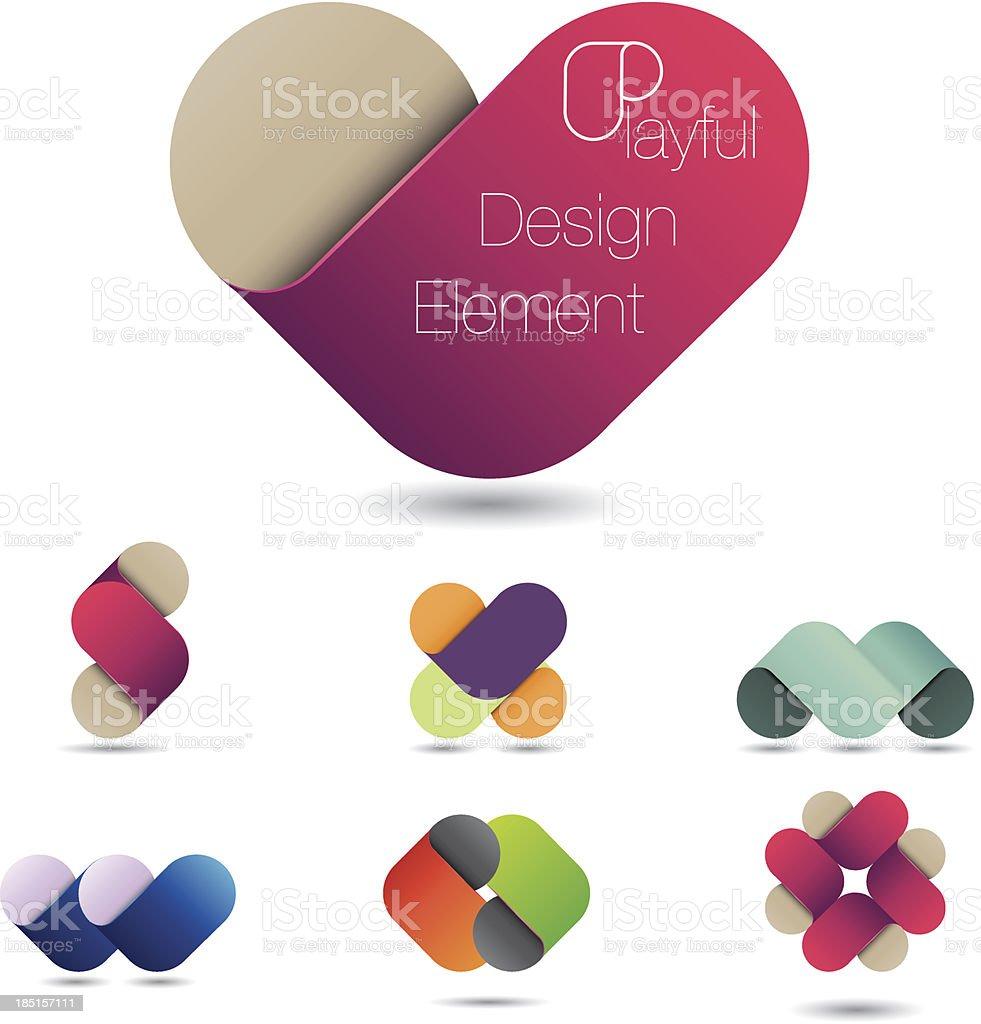 Playful design element royalty-free stock vector art