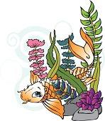 Playful Koi Fish