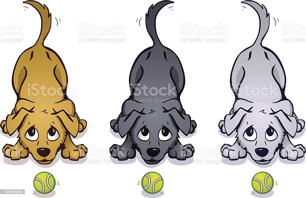 Playful Pups royalty-free stock vector art
