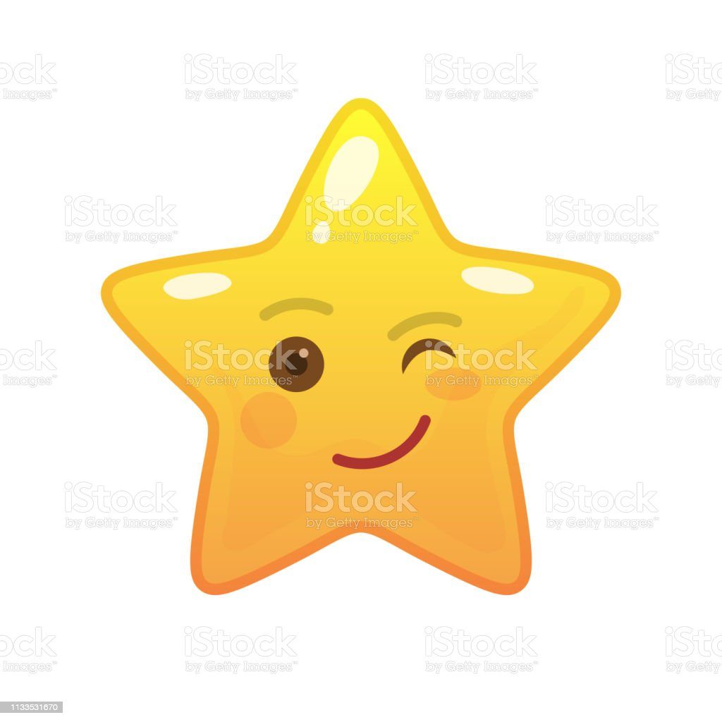 Playful Star Shaped Comic Emoticon Stock Illustration Download Image Now Istock