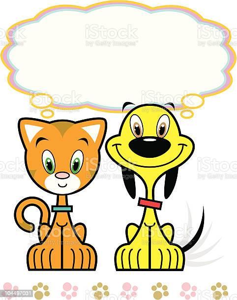 Playful yellow puppy cute orange kitty friends vector id104497031?b=1&k=6&m=104497031&s=612x612&h=idir2dagme3dw1wbdnf5qxb1bxo8dc2uhjyal211l3u=