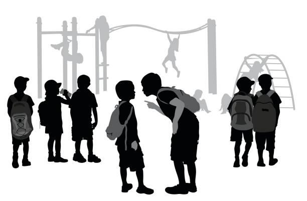 playground bullying - recess stock illustrations, clip art, cartoons, & icons