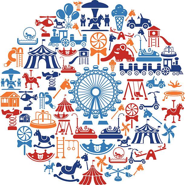 Playground Collage vector art illustration